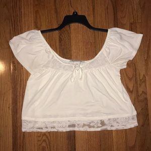 White crop top size small